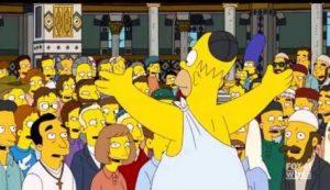 Homer padeciendo el síndrome de Jerusalén. ©Fox