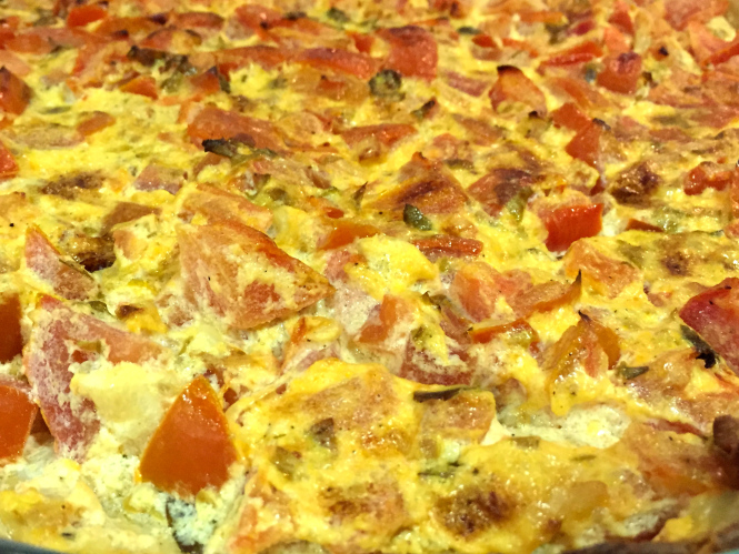Quiche de tomate y berenjena